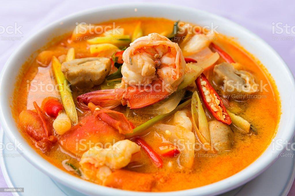 Tomyumgoong - Thai spicy soup stock photo
