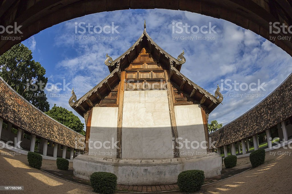 Ton Kwen Temple located in Chiang Mai , Thailand royalty-free stock photo
