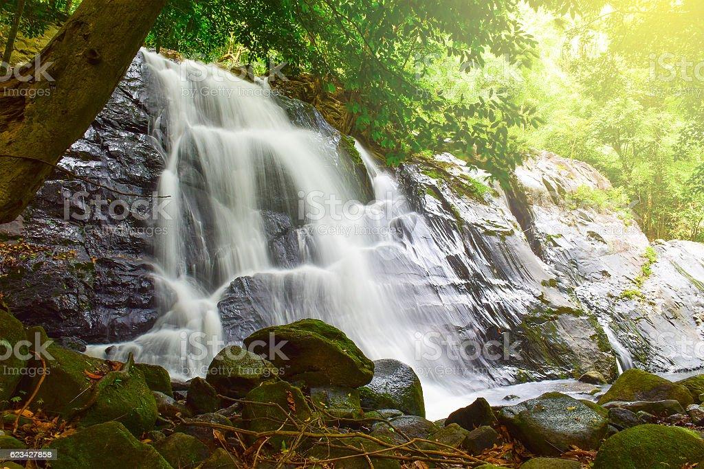 Ton Nga Chang waterfall stock photo