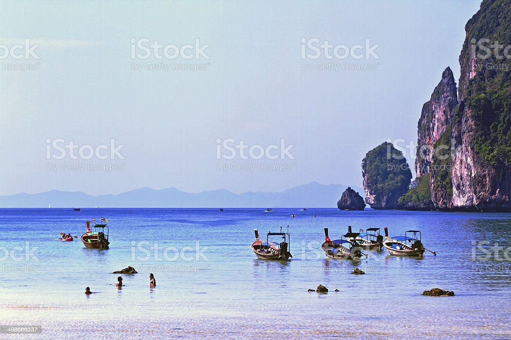 Ton Sai Bay. stock photo