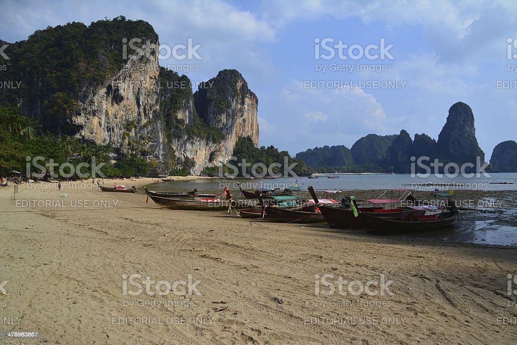 Ton Sai Beach, Krabi stock photo
