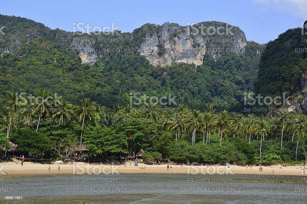 Ton Sai Beach, Krabi stock photo