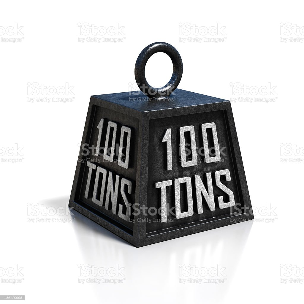 100 ton weight stock photo