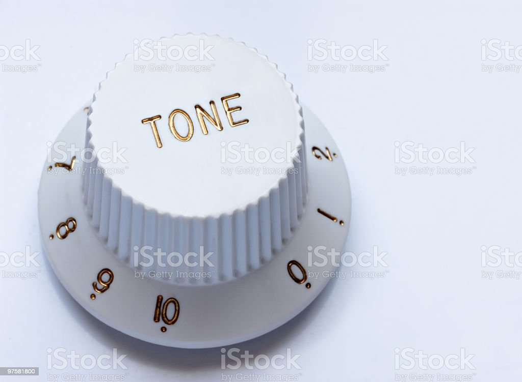 Tone knob stock photo