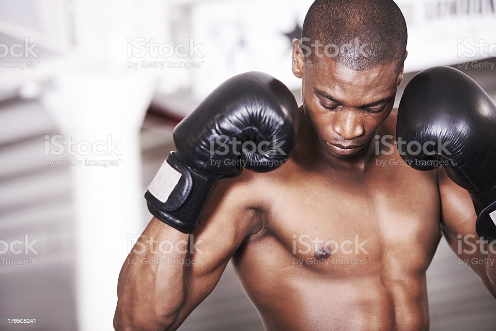 Toned and ready to fight stock photo