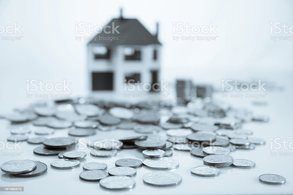 B+W Toned image House Prices Costs Savings Investments royalty-free stock photo