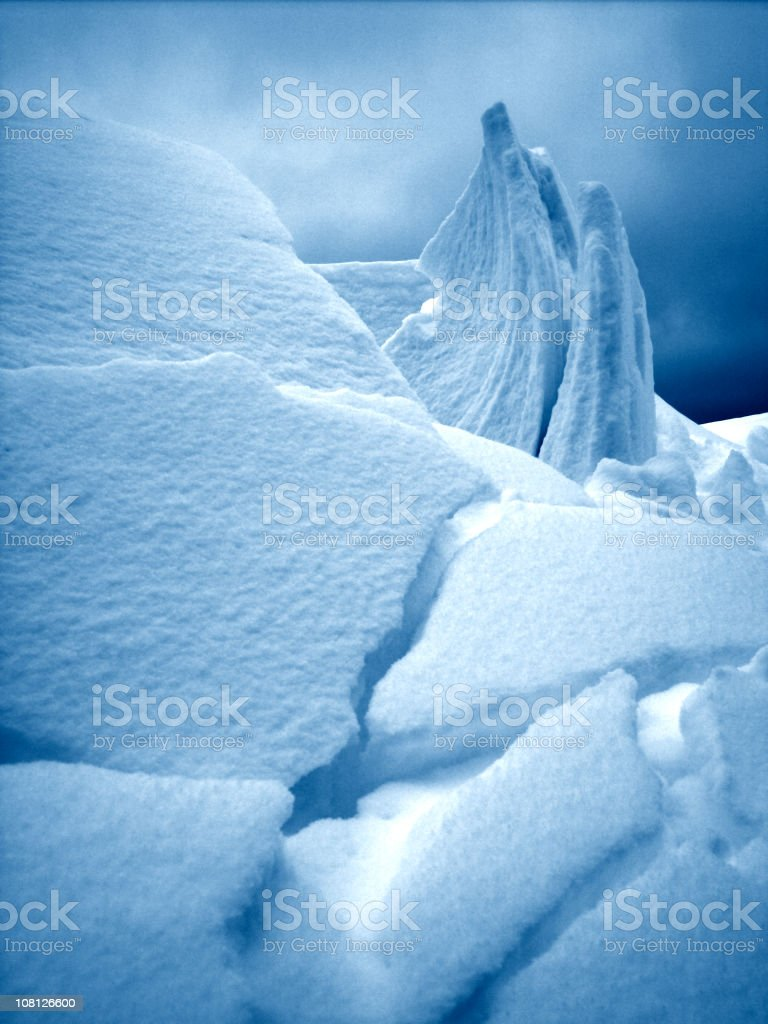 Toned Image of Avalanche and Snow Sculpture stock photo