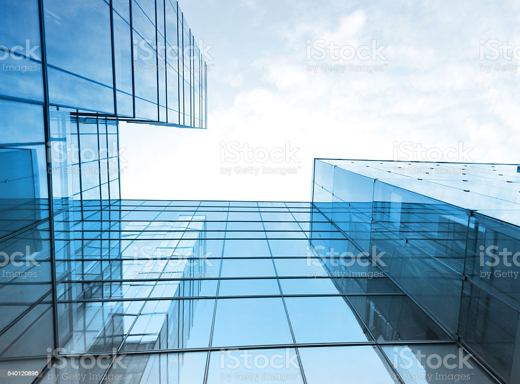 Toned image of modern office buildings stock photo