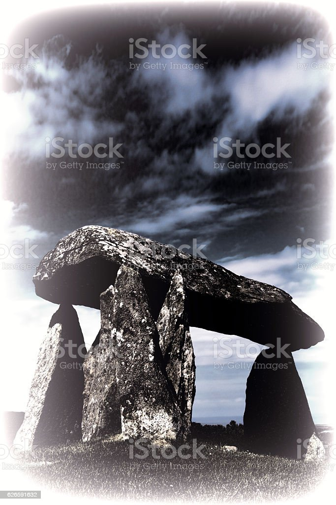 Toned image of the Pentre Ifan stock photo