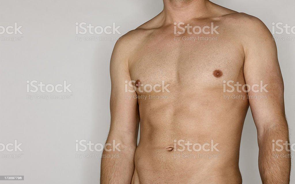 Toned mans torso royalty-free stock photo