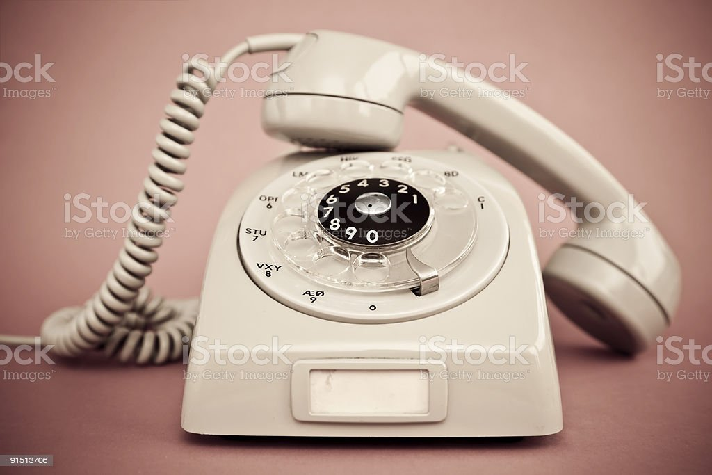 Toned Retro Phone royalty-free stock photo