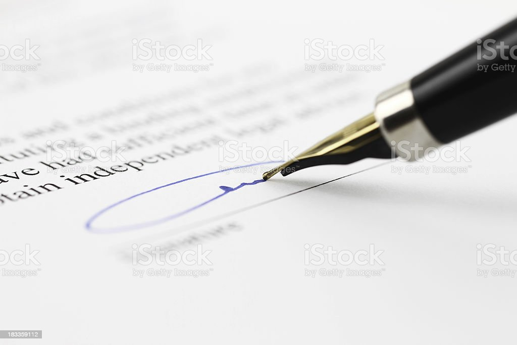 Toned signature stock photo
