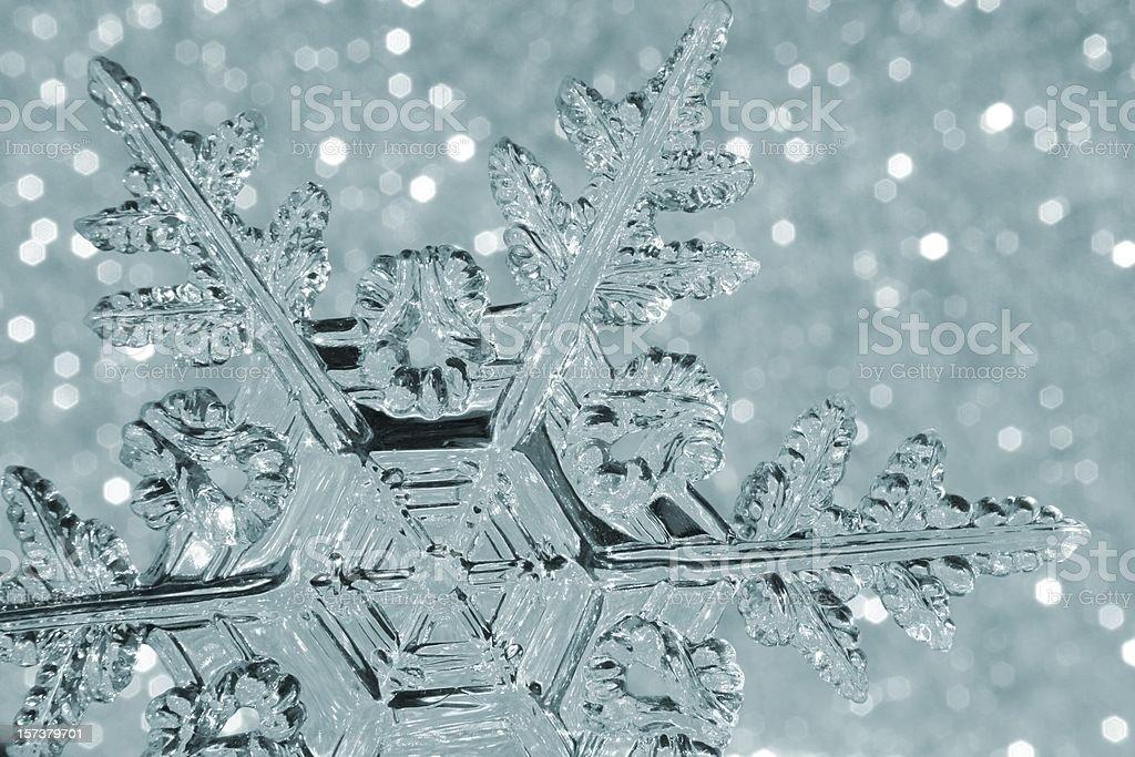 Toned Snowflake royalty-free stock photo