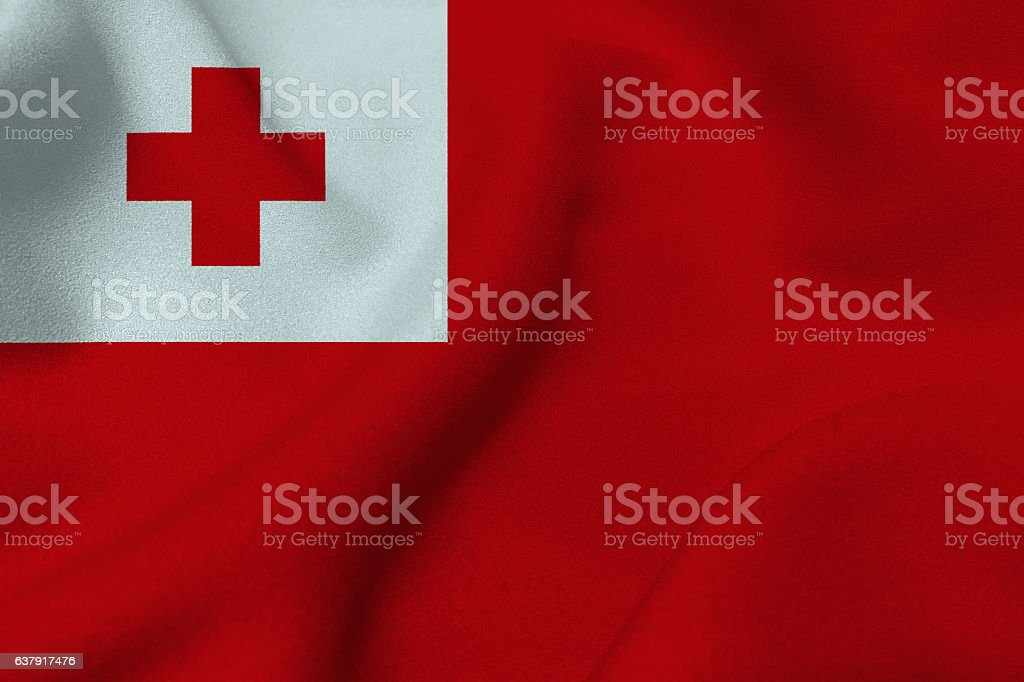 Tonga flag ,3D Tonga flag illustration symbol. stock photo