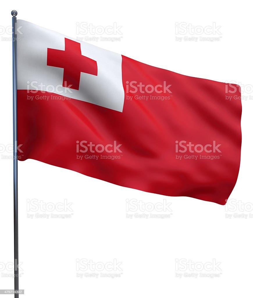 Tonga Flag Waving stock photo