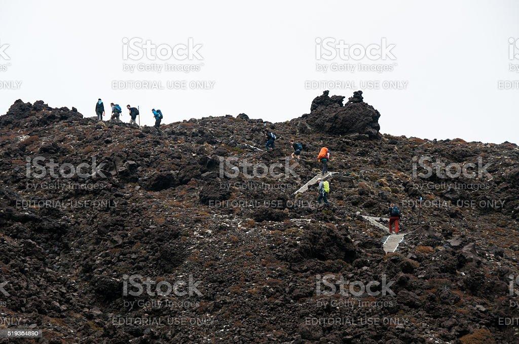Tongariro Alpine Crossing 2 stock photo
