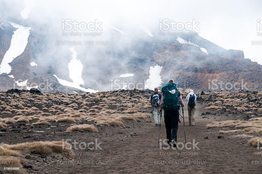 Tongariro Alpine Crossing 4 stock photo