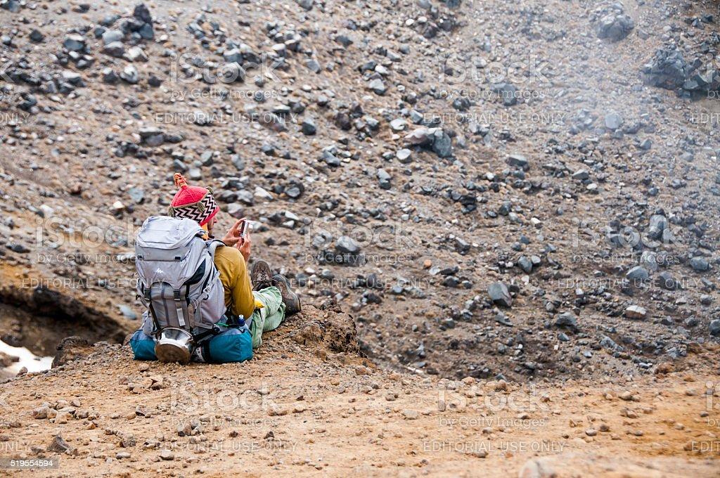 Tongariro Alpine Crossing 6 stock photo