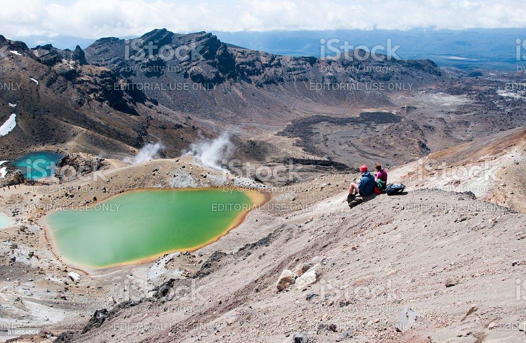 Tongariro Alpine Crossing 7 stock photo