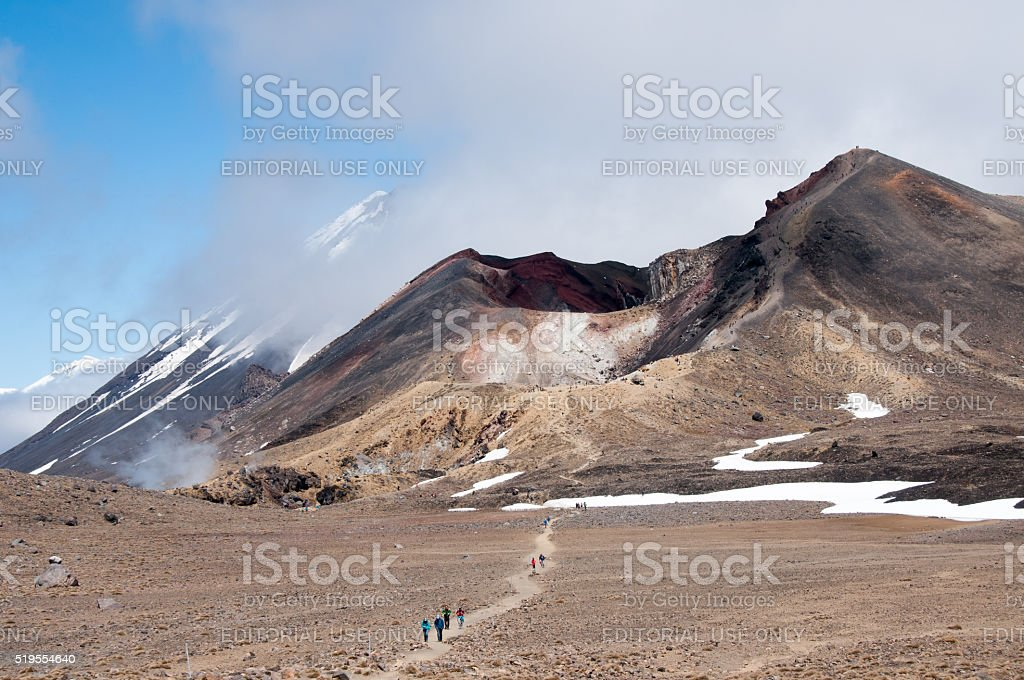 Tongariro Alpine Crossing 8 stock photo