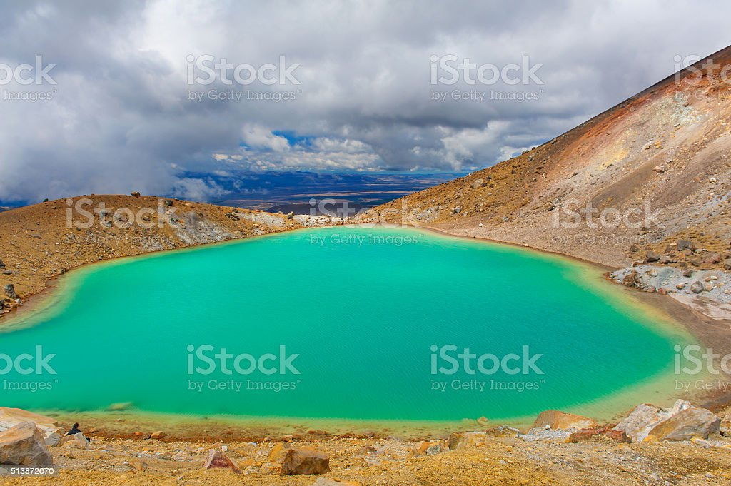 Tongariro Crossing stock photo