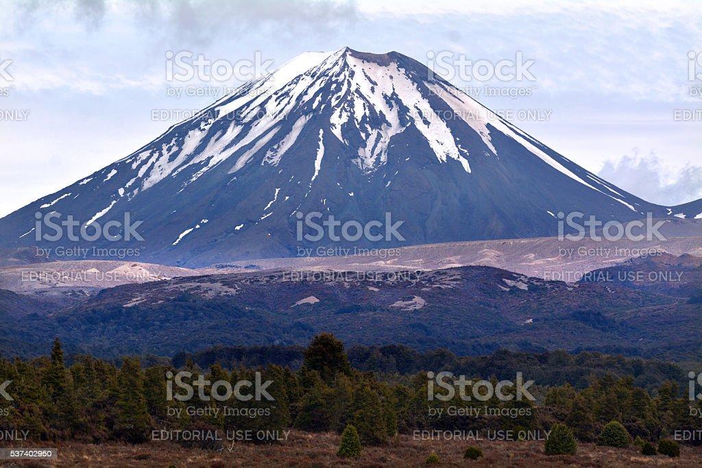 Tongariro National Park - Mount Ngauruhoe stock photo