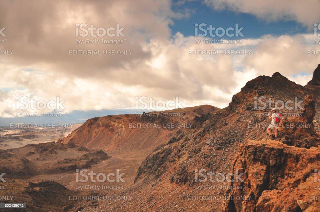Tongariro view stock photo