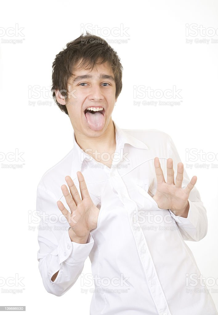 tongue out royalty-free stock photo