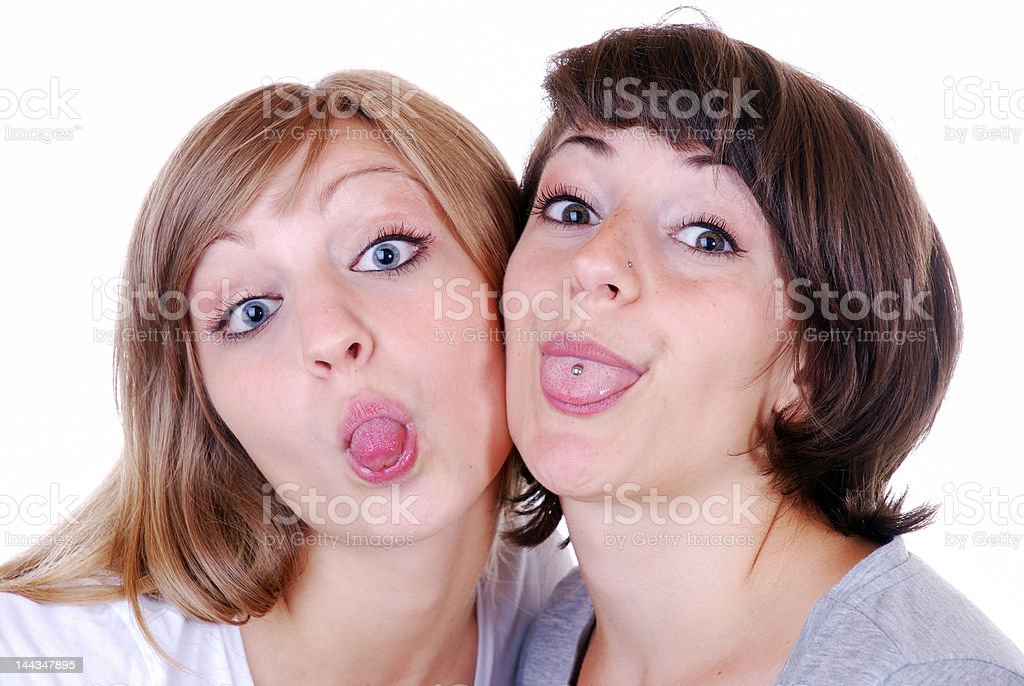 tongue out stock photo