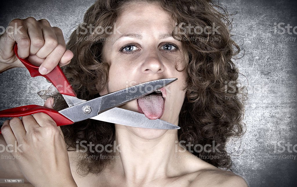 tongue stock photo