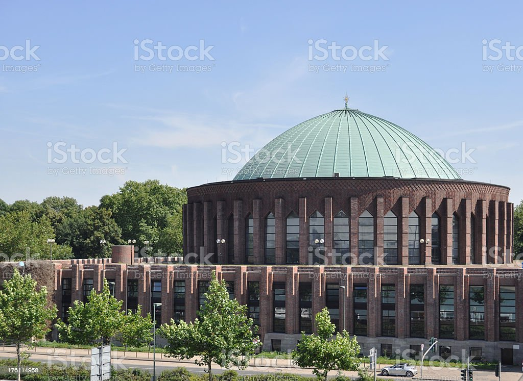 Tonhalle Concert Hall in Duesseldorf stock photo