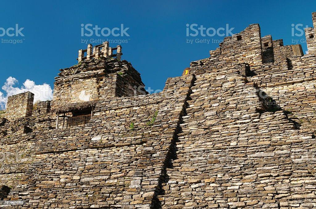 Tonina Maya ruins in Mexico royalty-free stock photo
