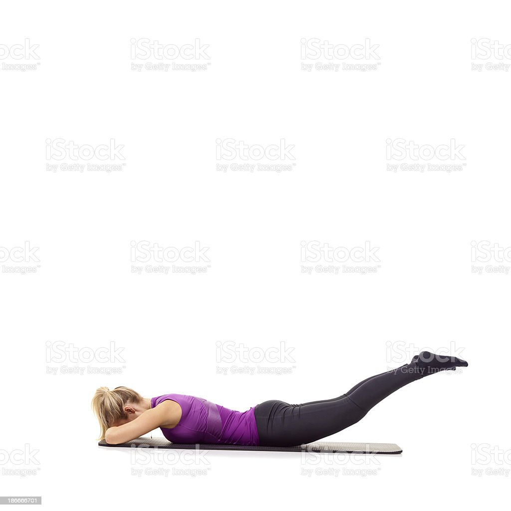 Toning those muscles royalty-free stock photo
