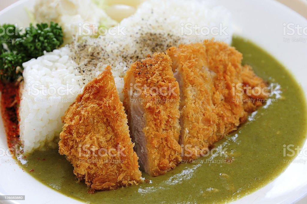 Tonkatsu Curry with Rice royalty-free stock photo