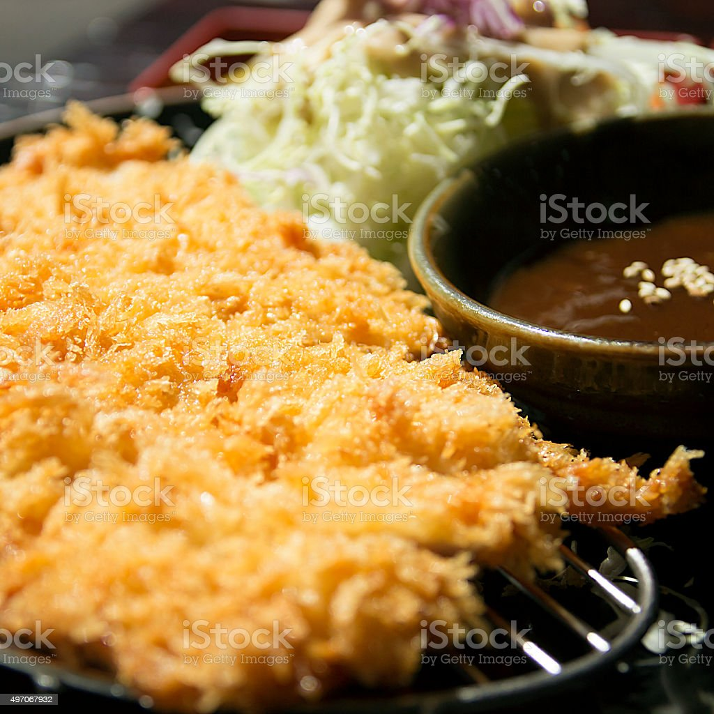 Tonkatsu Meals stock photo