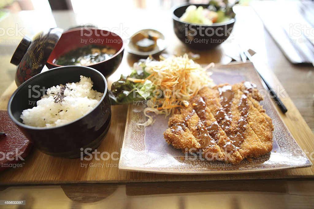 tonkatsu , Pork cutlet stock photo
