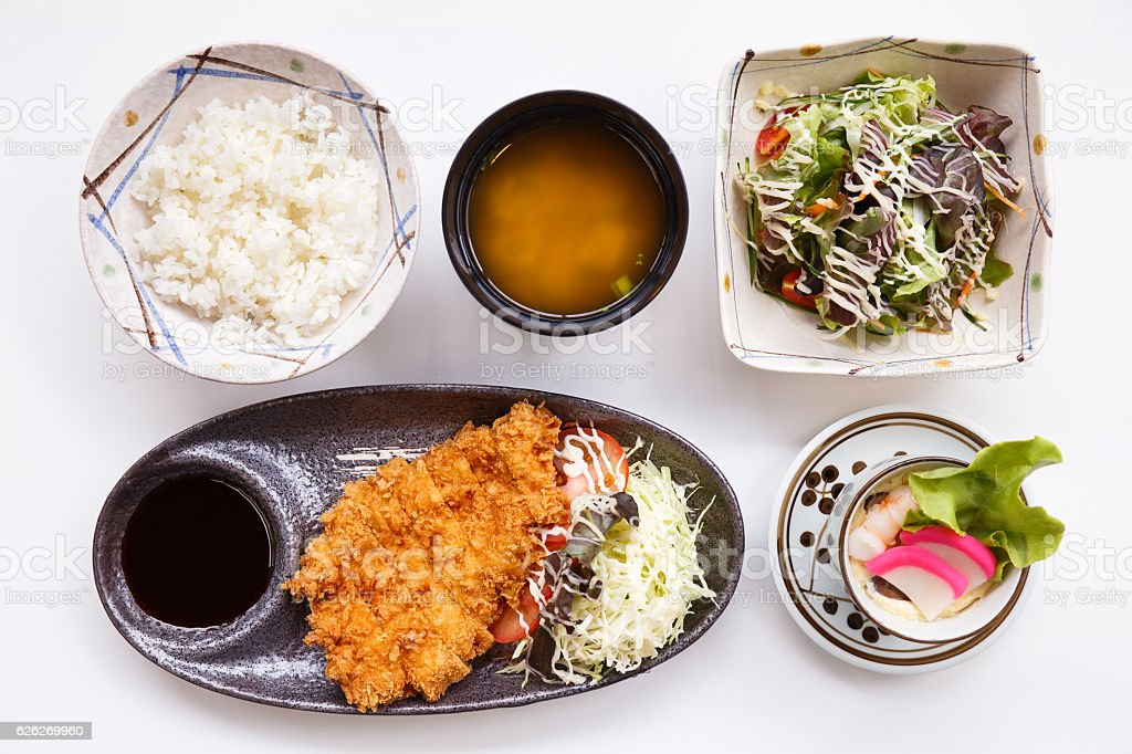 Tonkatsu Set stock photo