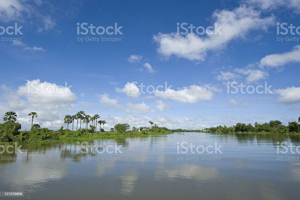 Tonle Sap Lake in Cambodia stock photo