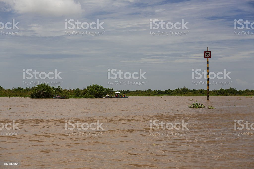 Tonle Sap lake royalty-free stock photo