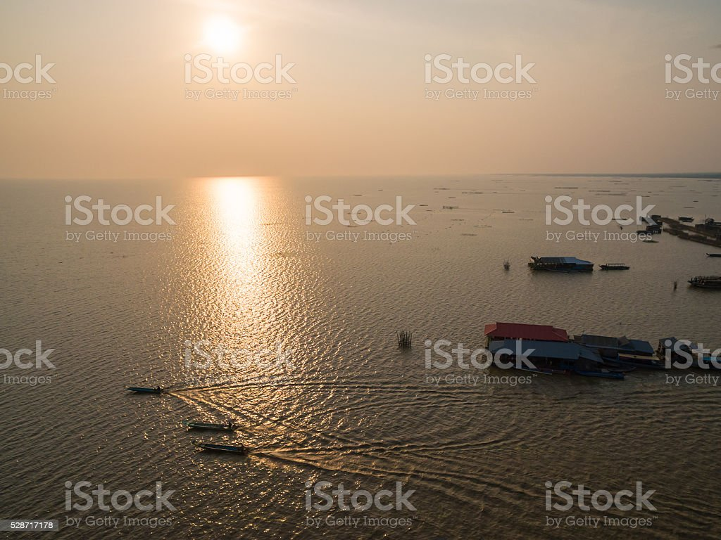 Tonle Sap lake (Cambodia) stock photo