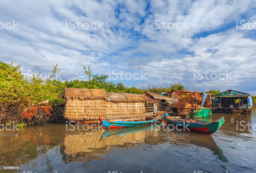Tonle sap lake. stock photo