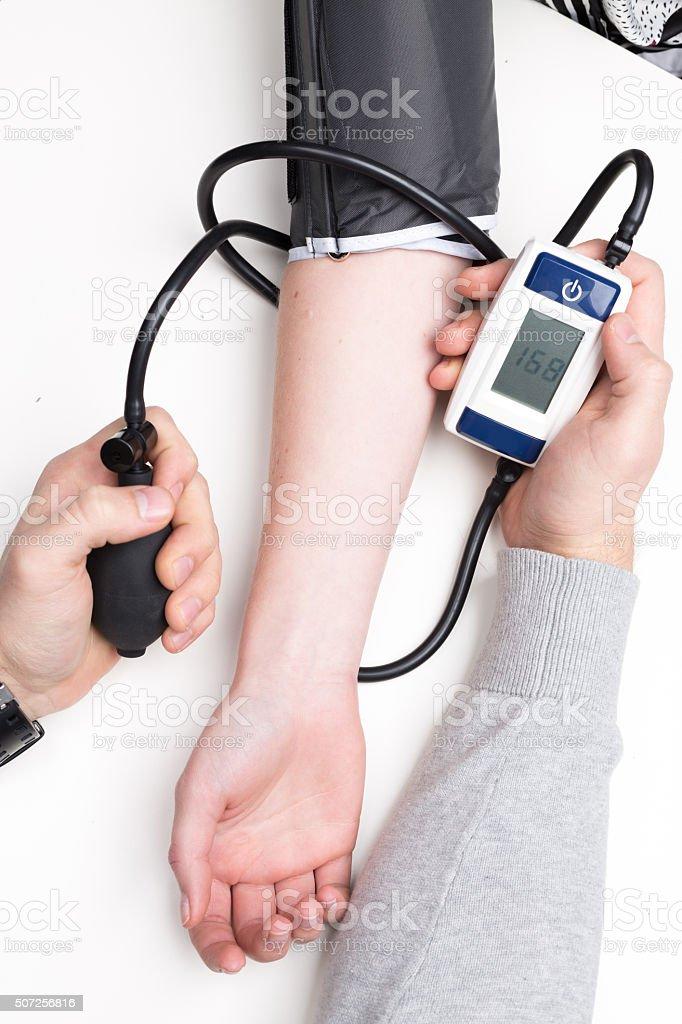 tonometer checking medicine health stock photo