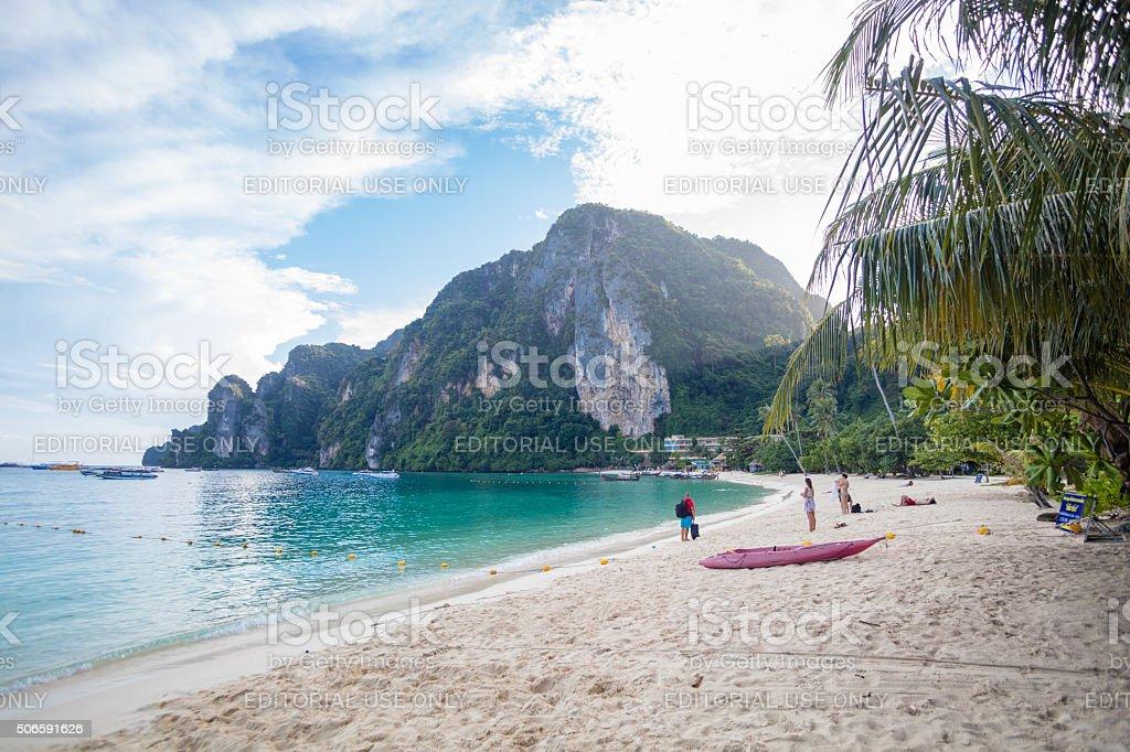 Tonsai Beach on Ko Phi Phi Don stock photo