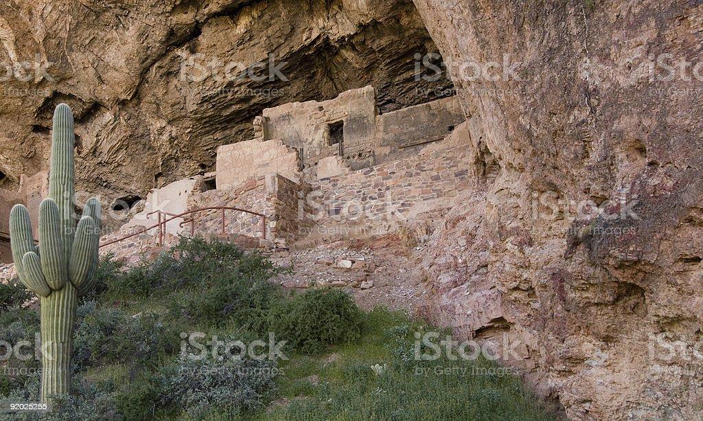 Tonto National Monument Cliff Dwellings stock photo