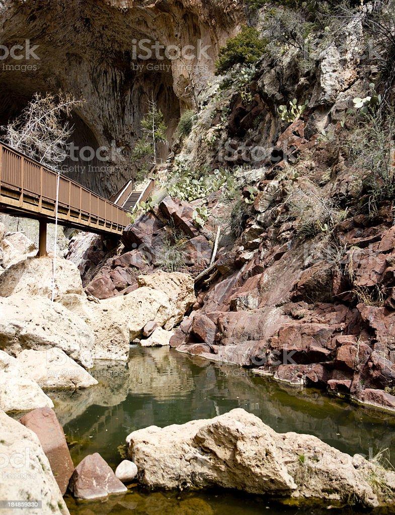 Tonto Natural Bridge stock photo