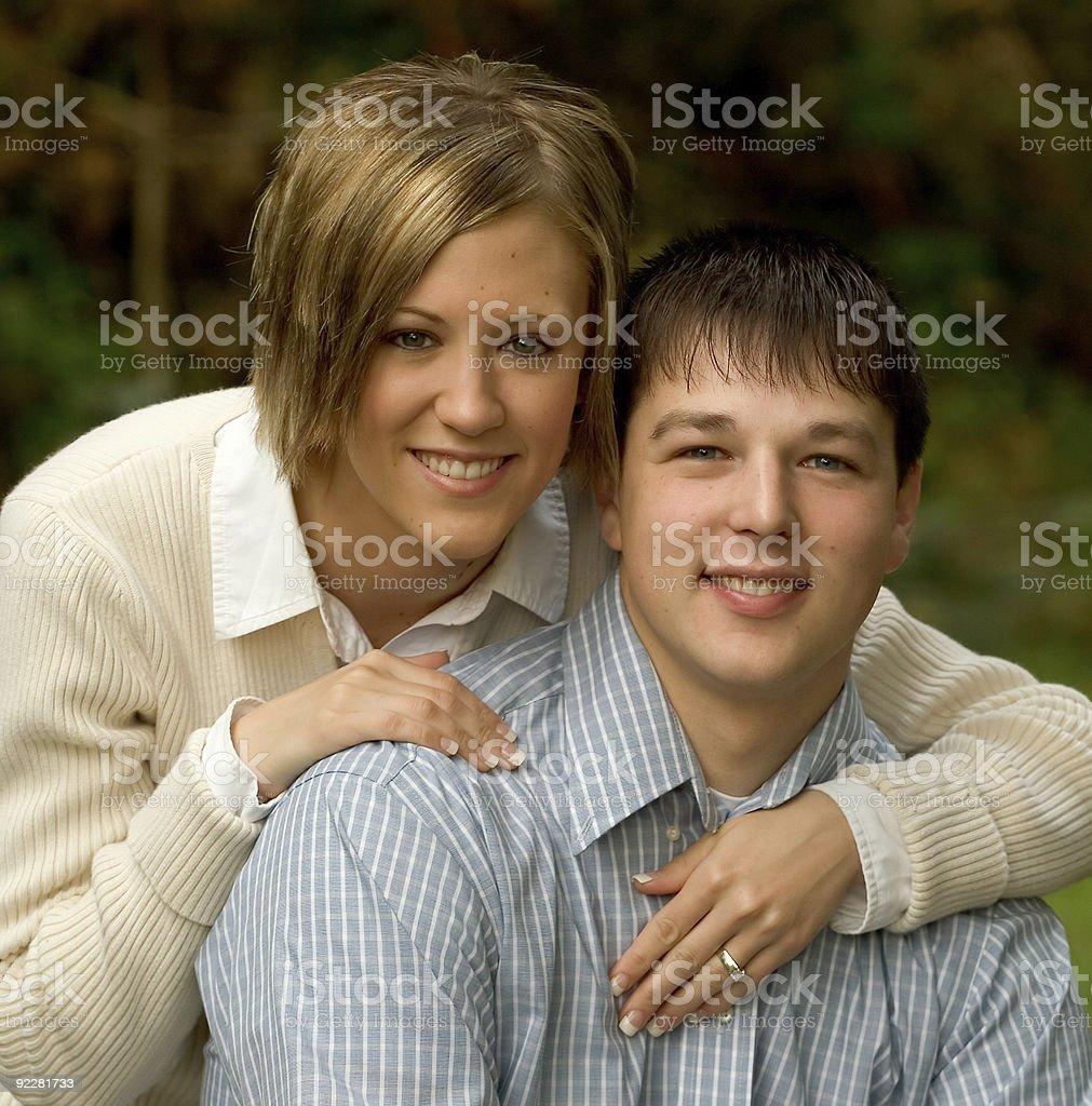 Tonya and Bryan Engagement 1 royalty-free stock photo