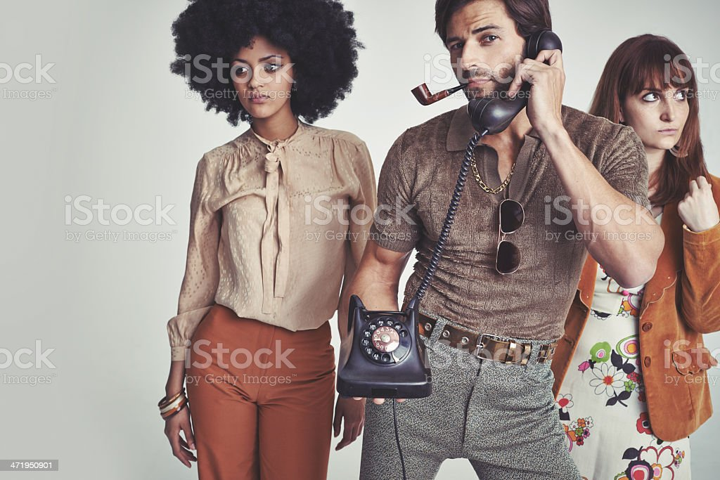 Too busy for chicks! stock photo