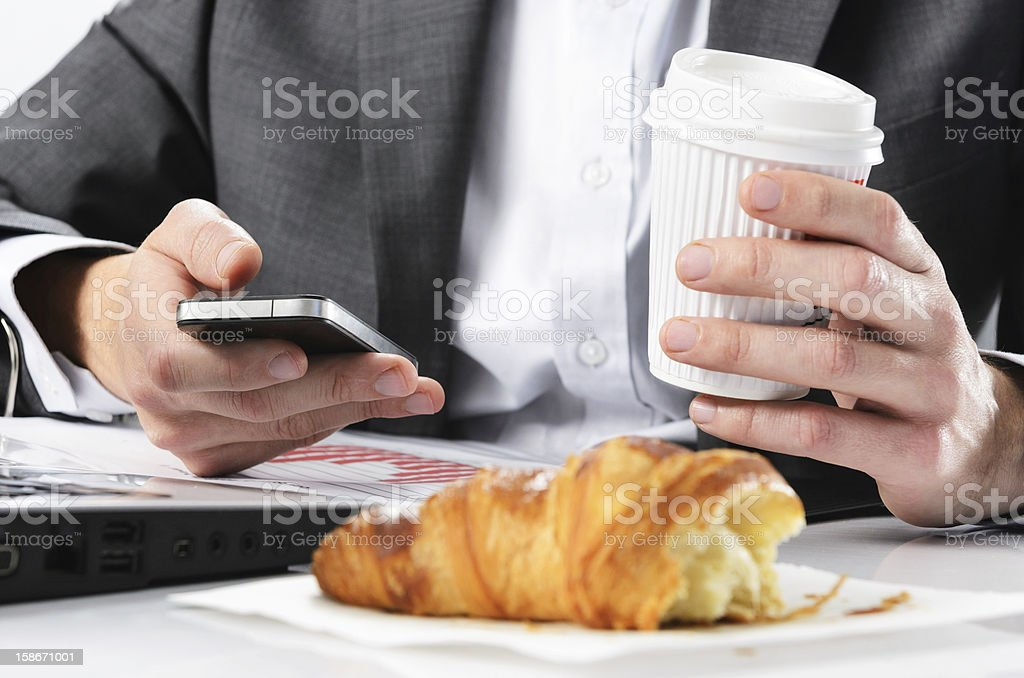 Too busy to eat breakfast royalty-free stock photo