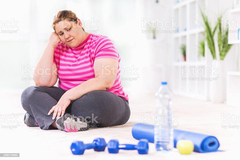 Too depressed to practice. stock photo