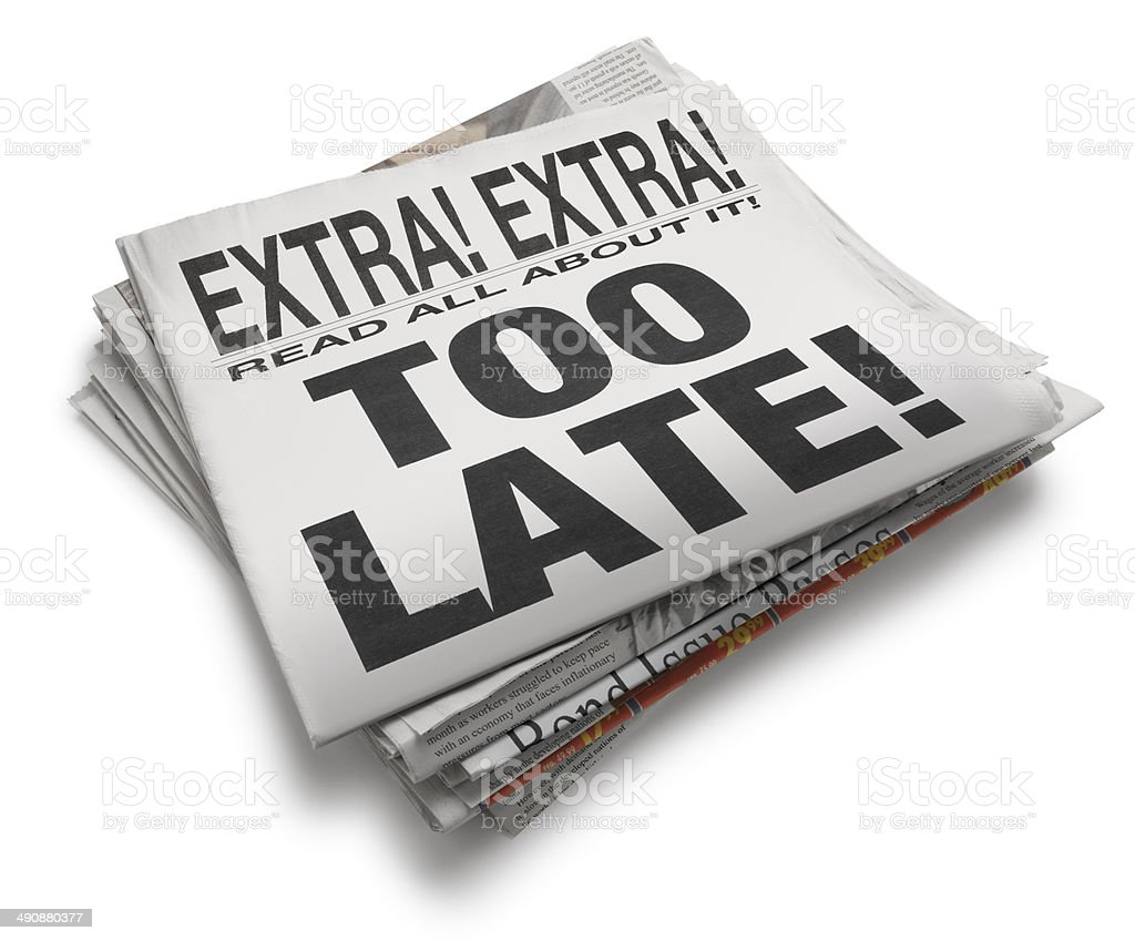 Too late! royalty-free stock photo